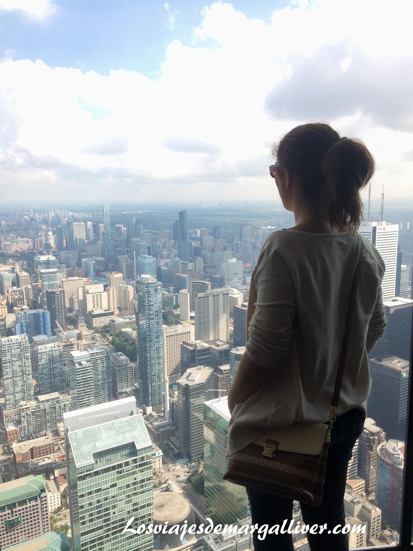 vistas desde la torre CN de Toronto en la ruta por la costa este de Canadá- Los viajes de Margalliver